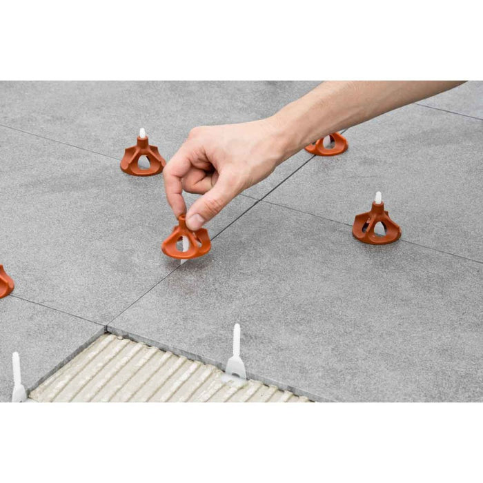 Vite tile leveling system does not require a tool to install