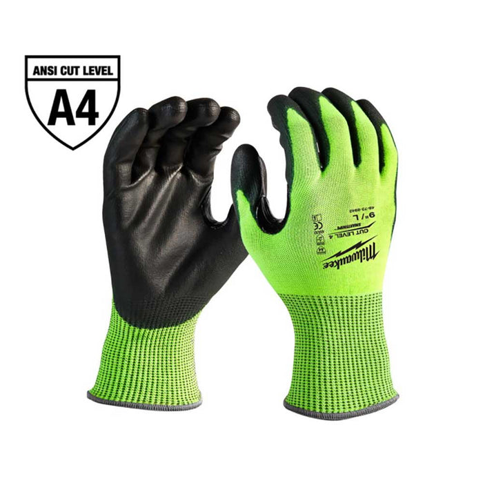 Milwaukee High-Visibility Cut Level 4 Gloves