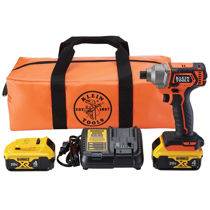 Klein Tools Battery-Operated Compact Impact Driver Kit