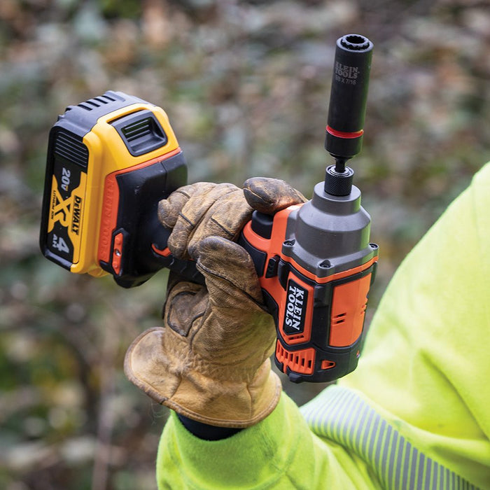 Klein Tools Compact Impact Driver for overhead use