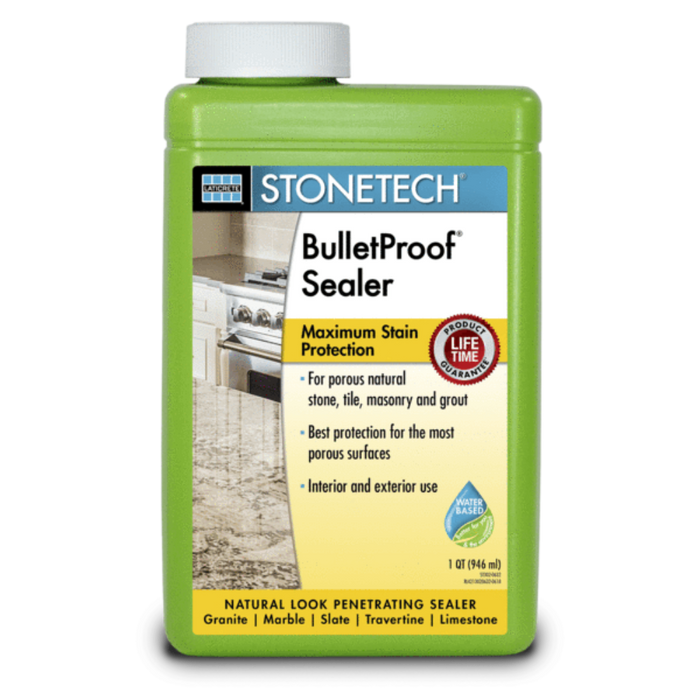 StoneTech Bulletproof sealer for maximum stain protection on natural stone