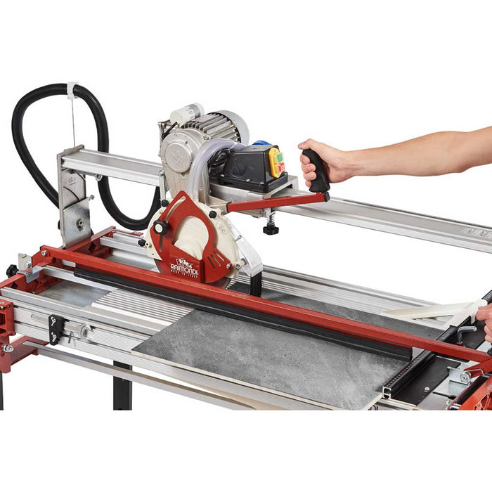 Using tile hold down guide with Raimondi Gladiator rail saw