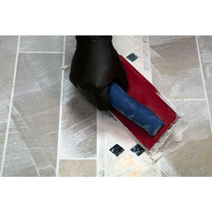 Grouting decorative shower floor with SuperiorBilt grout float