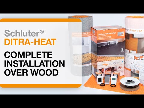Video of Strata Heat installation over wood floors
