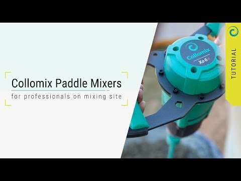 Collomix Paddle Mixers - for professionals on mixing site