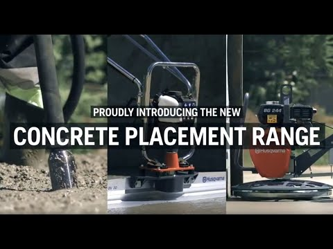 Concrete placement equipment product range from Husqvarna