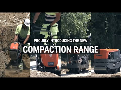 Husqvarna Compaction equipment product range,