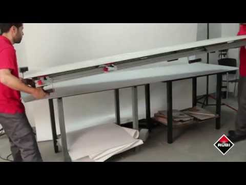 Video showing the Rubi Slim Easytrans Panel transport system for moving and handling large thin panel porcelain tile.