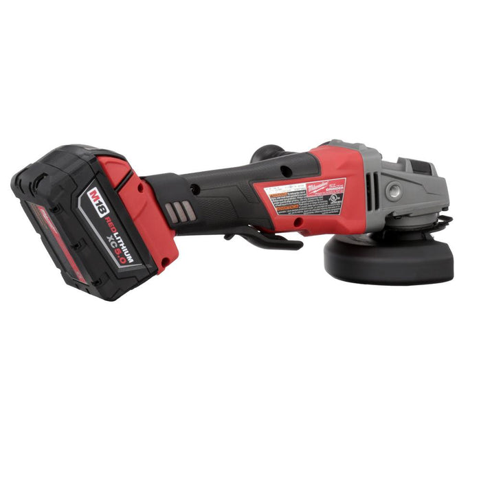 "Milwaukee M18 FUEL™ 5"" Grinder, Paddle Switch, rear view"