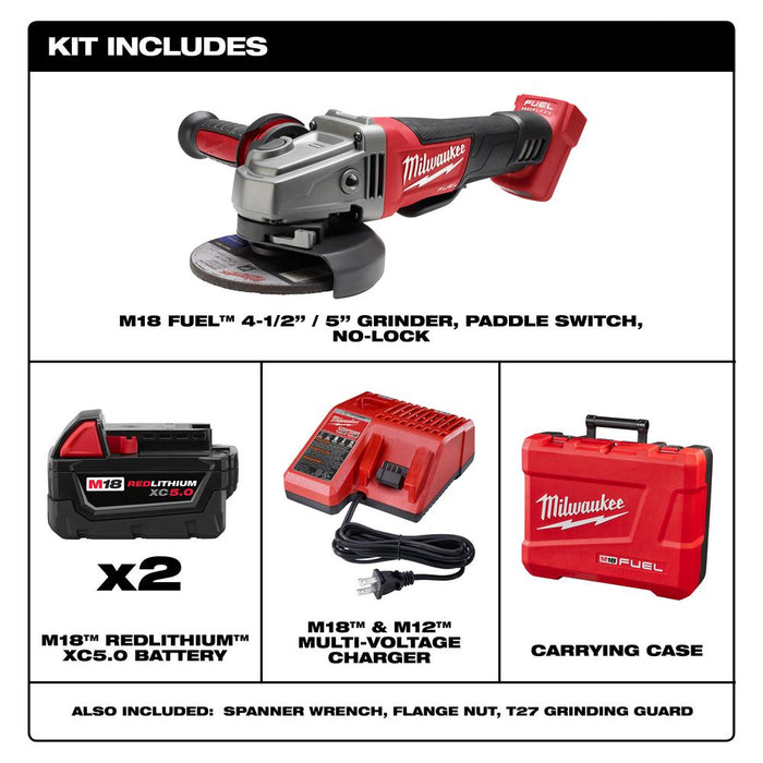 "Milwaukee M18 FUEL™ 4-1/2"" / 5"" Grinder, Paddle Switch Kit components"