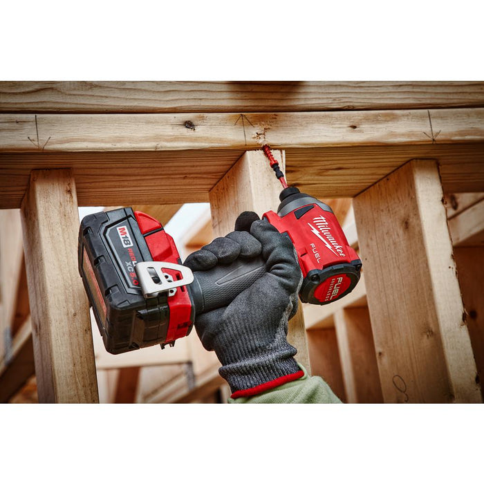 "Milwaukee M18 FUEL™ 1/4"" Hex Impact Driver installing wood frames"