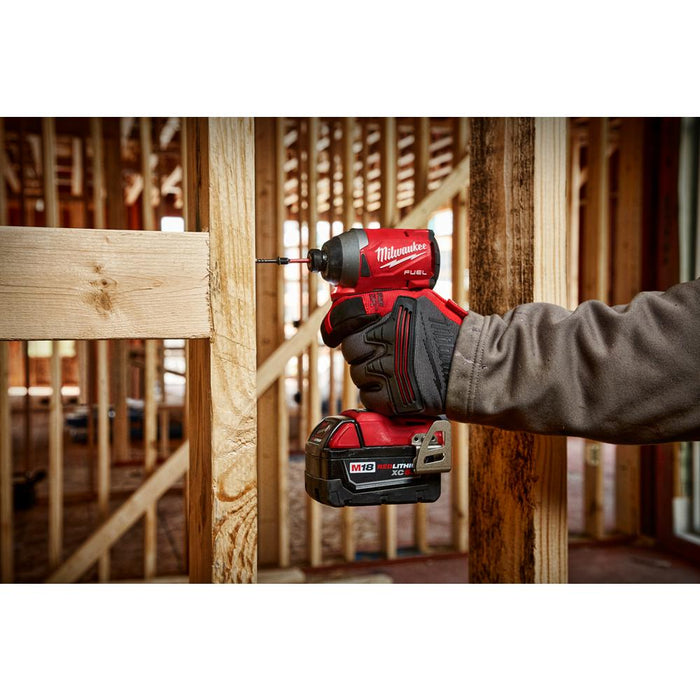 "Milwaukee M18 FUEL™ 1/4"" Hex Impact Driver for wood frame"