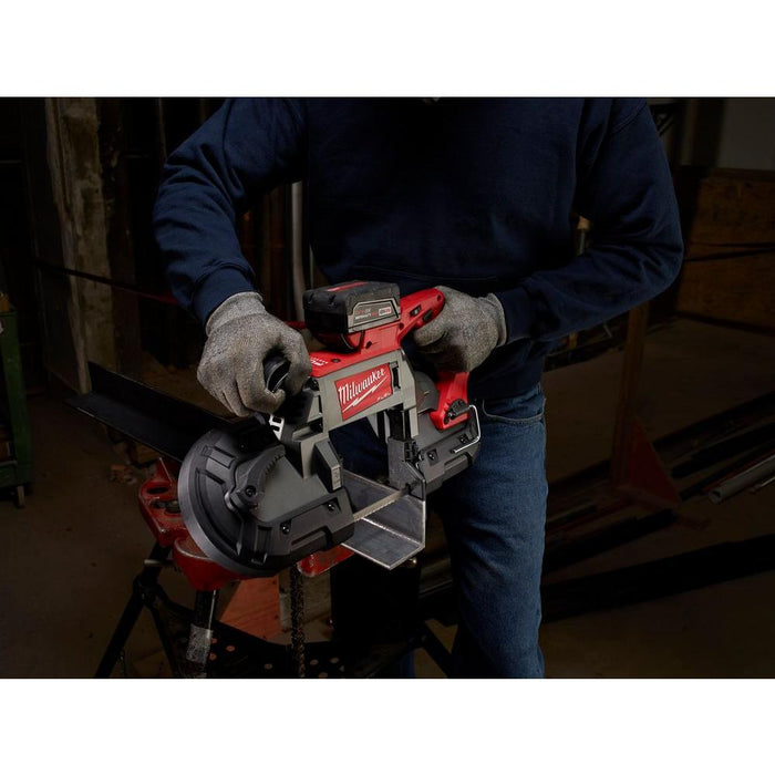 Cutting metal L-brackets with Milwaukee M18 FUEL™ Deep Cut Band Saw