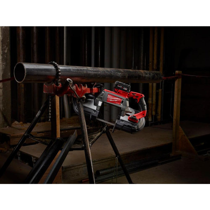 Milwaukee M18 FUEL™ Deep Cut Band Saw with hanging clip