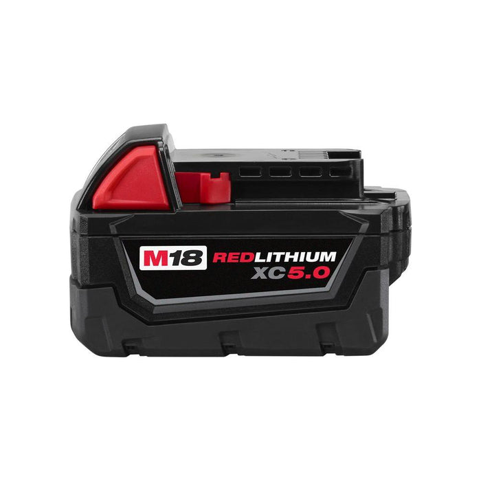 Milwaukee M18 REDLITHIUM XC5.0 Extended Capacity Battery, side view