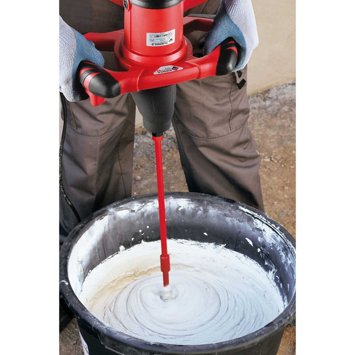 Mixing large batch of tile adhesive with dual handle RubiMix 9N