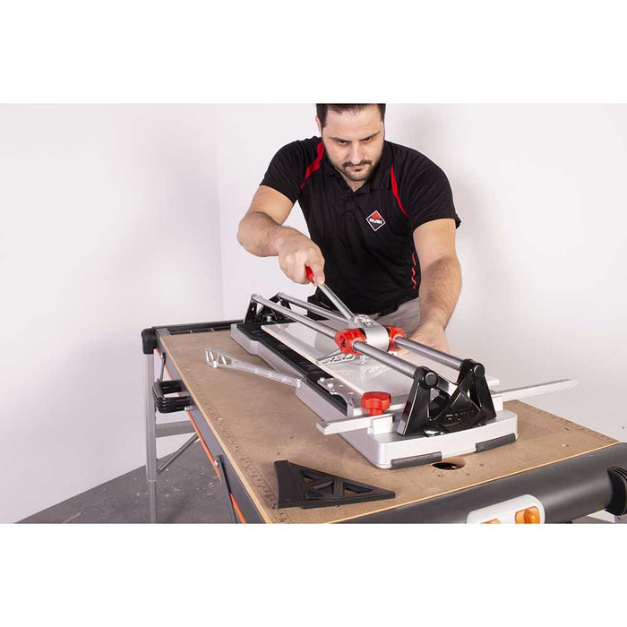 Rubi SPEED N Tile cutter with direct view of scoring and cutting tile