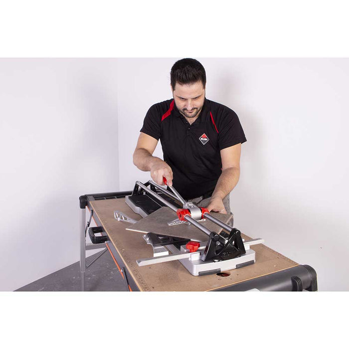 Using SPEED-N tile cutter for cutting porcelain floor tile