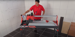 Video of the zero-dust feature on the Rubi Dc-1200 wet tile saw for cutting all types of porcelain and ceramic tile.