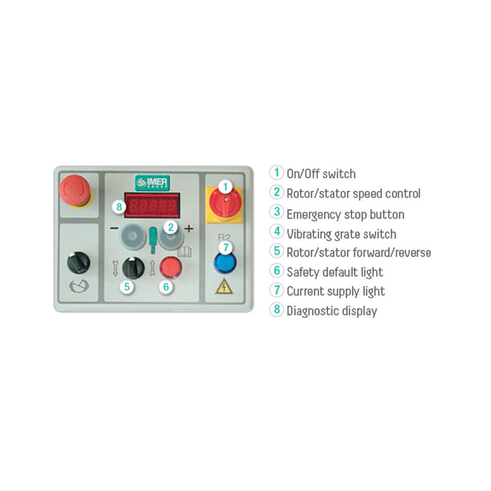 Imer step up 120 control panel