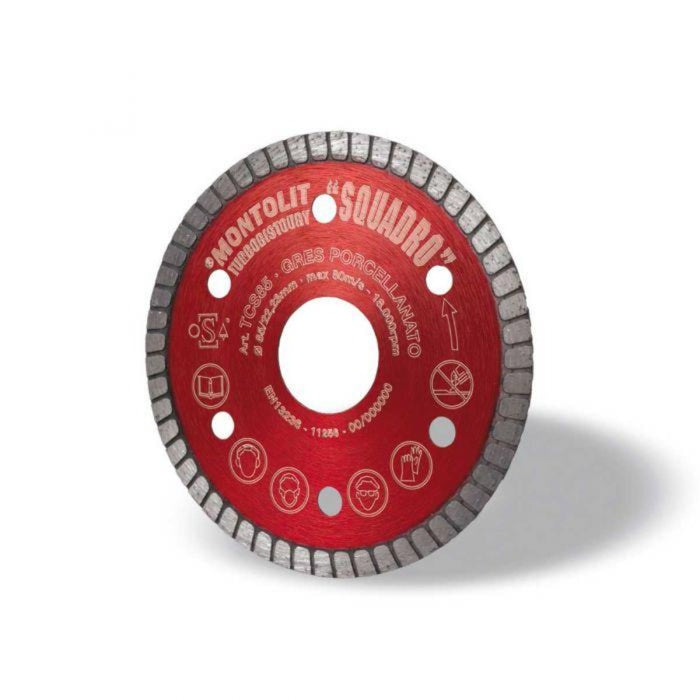 Montolit 3-3/8' SQUADRO Turbo Diamond Blade
