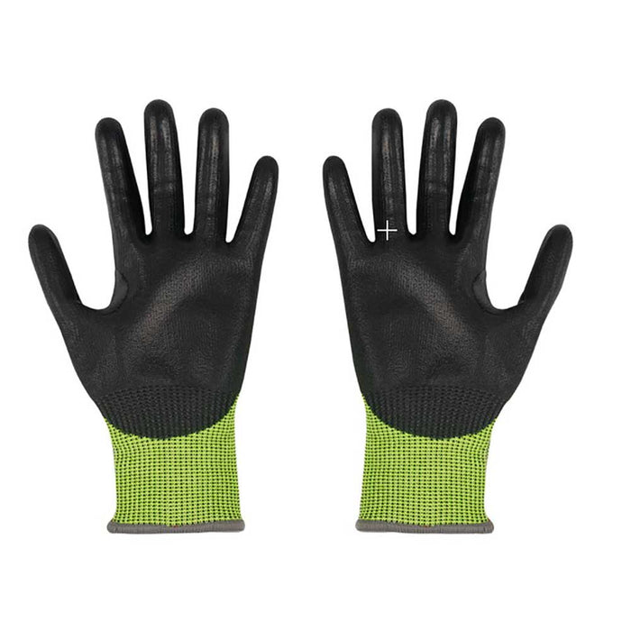 Milwaukee Cut Level 4 Polyurethane Dipped Gloves, front view