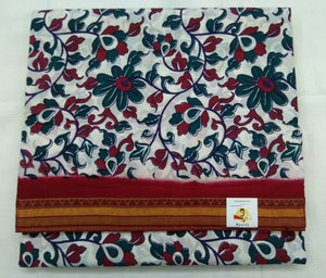 White based kalamkari 10.5 yardz