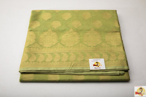 Benarasi Silk Cotton - Apple Green