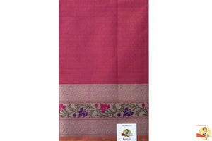 Benarasi Silk Cotton - Scarlet Pink