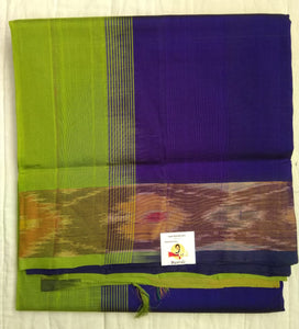 Pure silk cotton- Pochampalli border