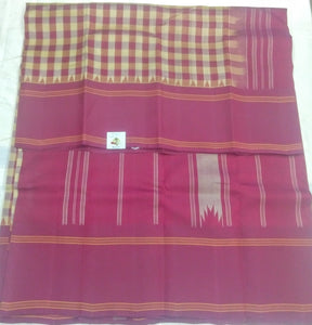 Rasipuram korvai pure silk cotton