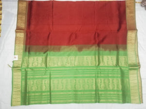 Pure silk cotton(madisar)- Rudhraksha border