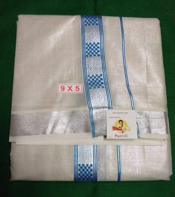 Cotton Tissue Dhothi 9*5