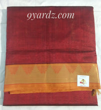Load image into Gallery viewer, Pure silk cotton - Maroon by orange Vairaoosi