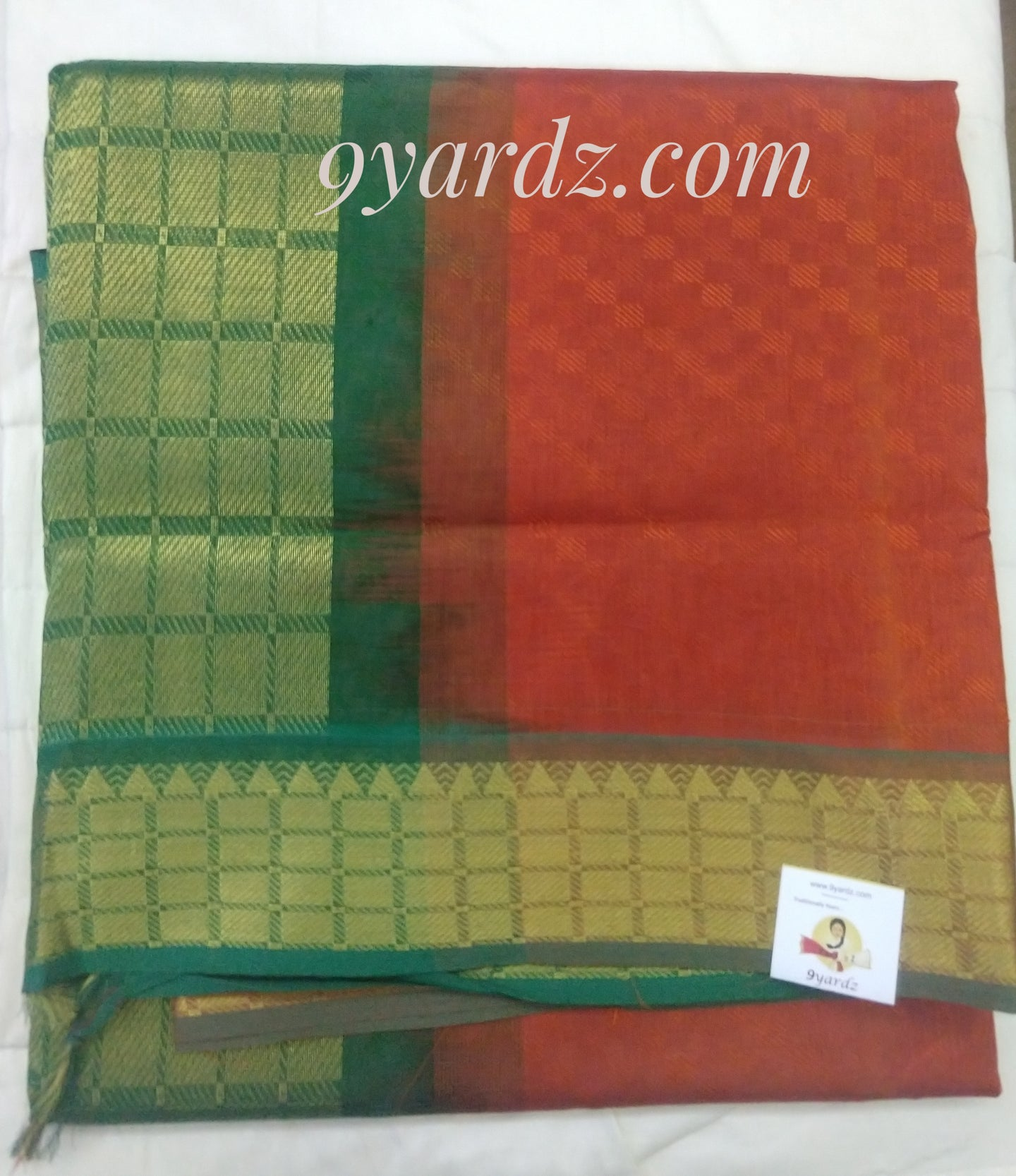 Pure silk cotton - Rust by green(madisar)