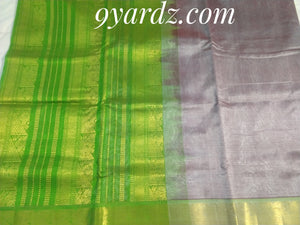 Pure silk cotton - brownish grey by green