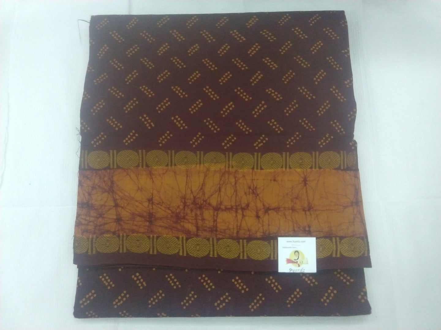 Sungudi Bathik Border- Maroon