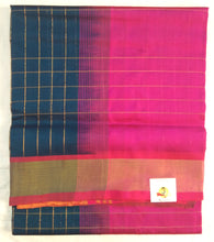 Load image into Gallery viewer, Pure Silk Cotton- zari checked body
