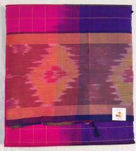 Load image into Gallery viewer, Pure silk cotton- Checked Pochampalli border