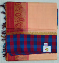 Load image into Gallery viewer, Pure Silk Cotton- checked border