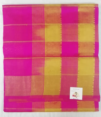 Pure Silk Cotton- zari checked body