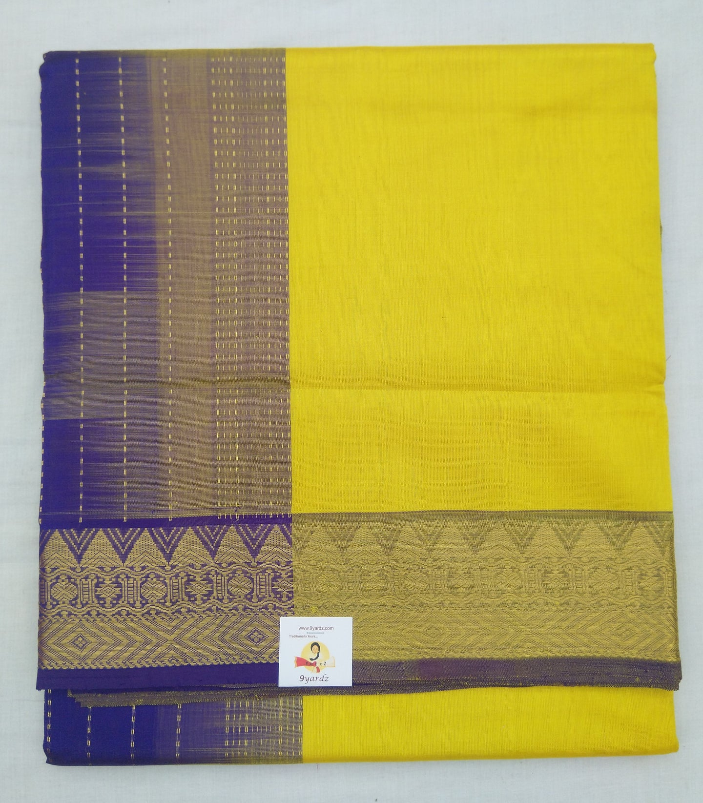Pure silk cotton- Designer border
