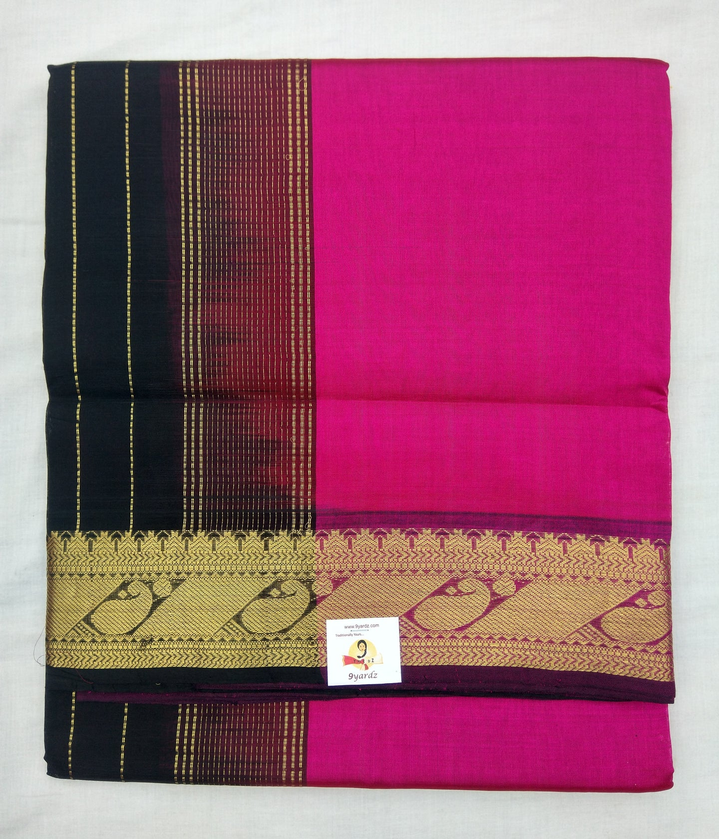 Pure silk cotton-Designer Border