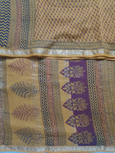 Load image into Gallery viewer, Baag printed Maheshwari Silk cotton 6yardz