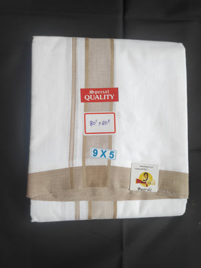 Soft Cotton bleached dhothi 9*5