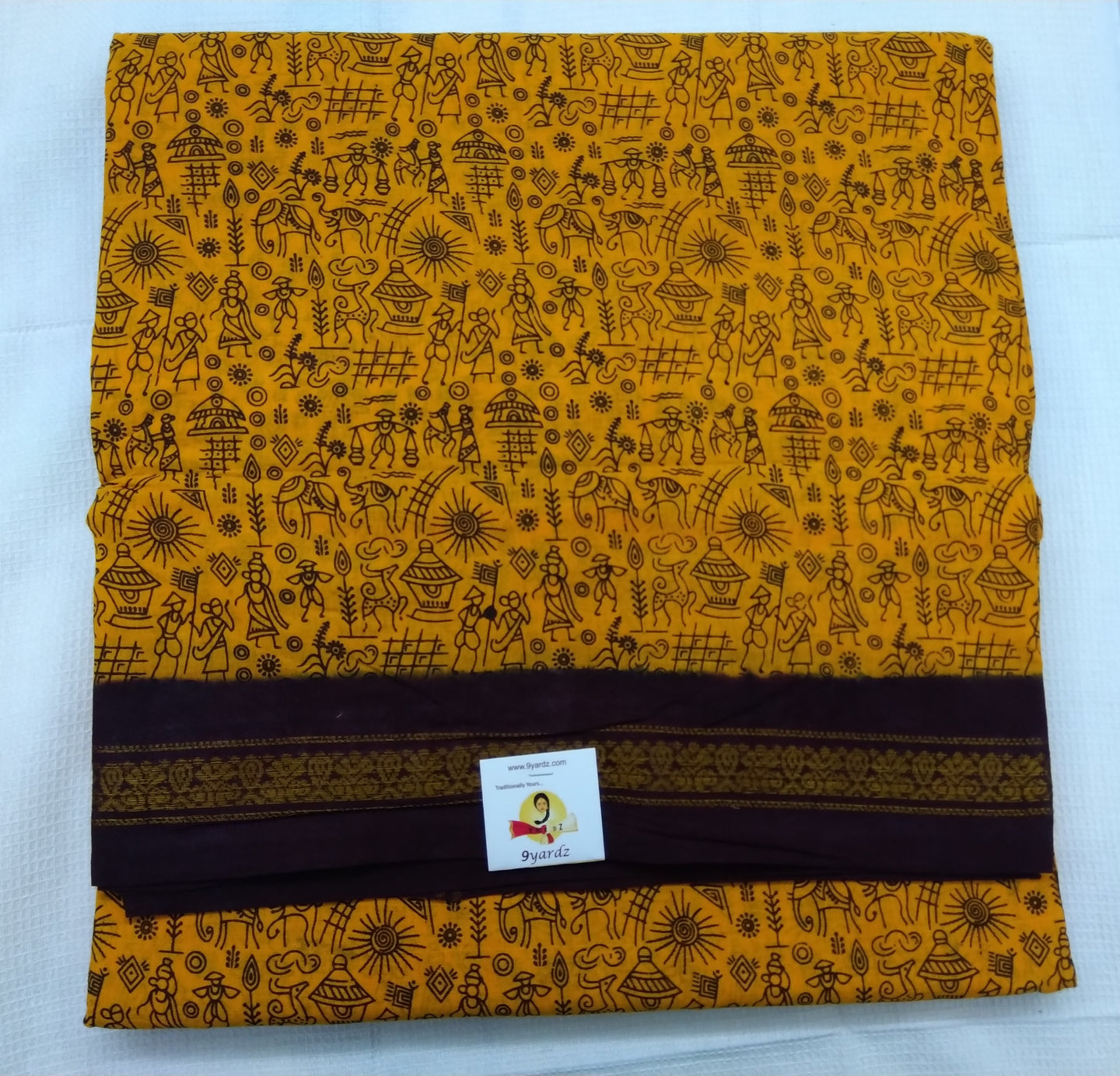 Kanchi Cotton Warali 9.5 yardz