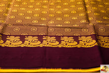 Load image into Gallery viewer, Kuppadam Silk Cotton- Bright yellow with plain brown border