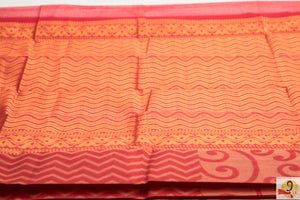 Chirala Handloom Cotton Saree-Pink & grey