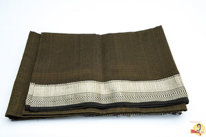 Maheshwari Silk Cotton- Olive Green