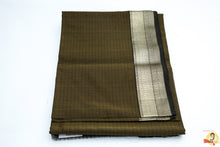 Load image into Gallery viewer, Maheshwari Silk Cotton- Olive Green